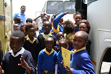 Learners at bus