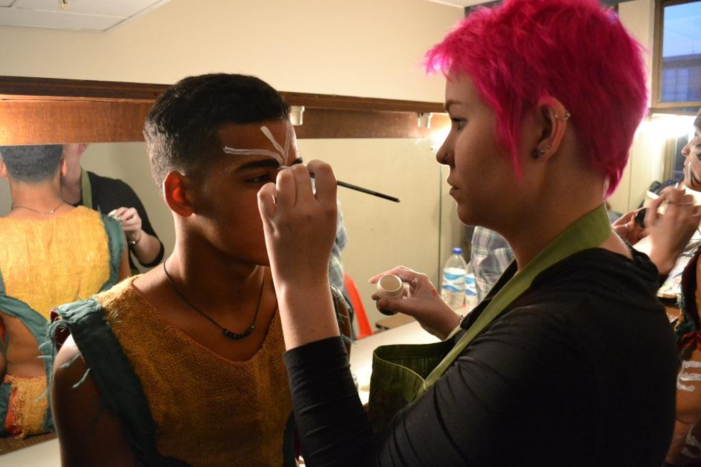 Learners had their make-up done by professional make-up artists