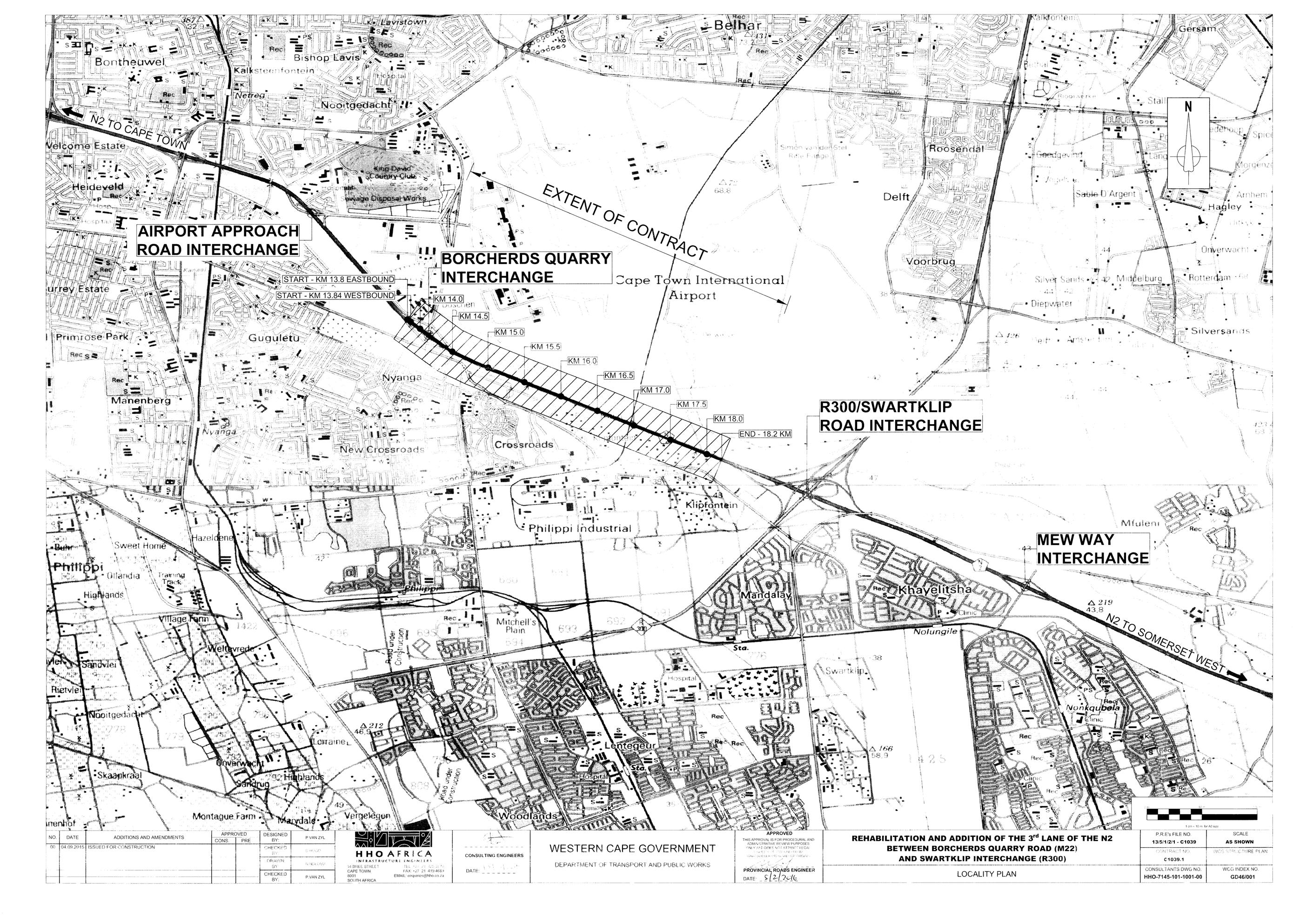 Locality plan of the N2 upgrade.