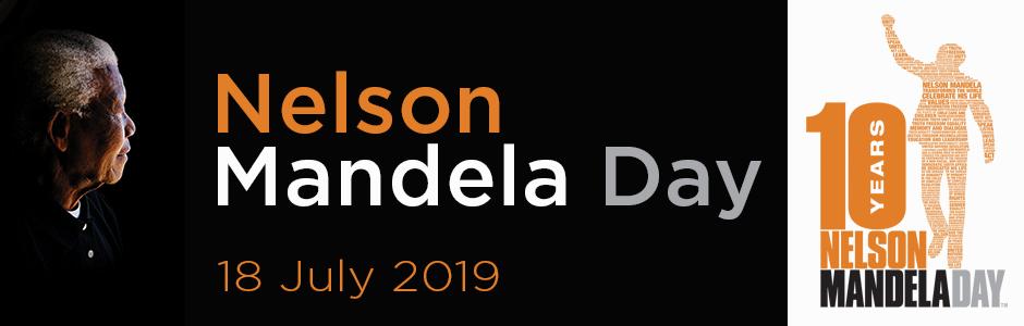 Nelson Mandella day banner