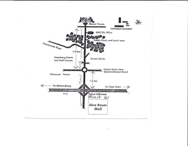 Map to Chrysalis Graduation