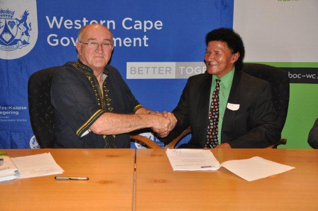 Minister Robin Carlisle and Mr Johan Swartz, Chair of SANSBOC-WC.
