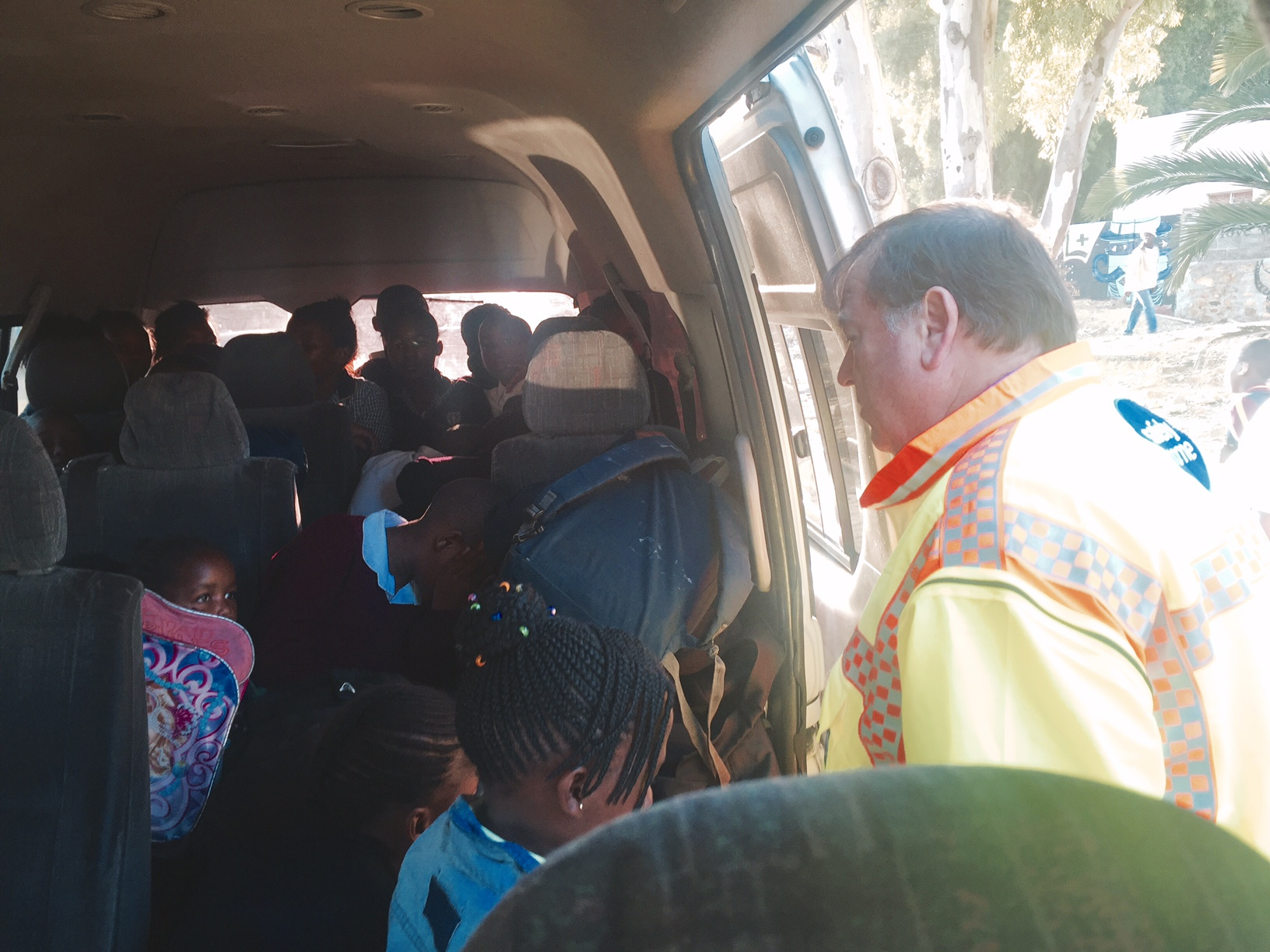 Minister Grant in a Quantum overloaded with 35 learners.
