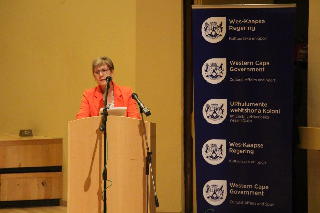 Minister Marais addressed the performers and encouraged them to keep focused on their goals