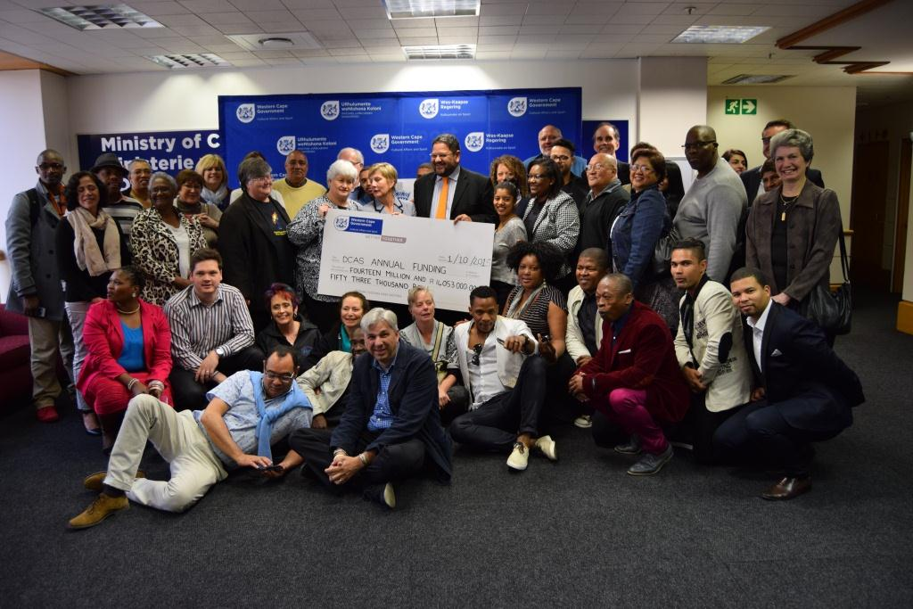 Minister Marais and DCAS officials with representatives of organisations