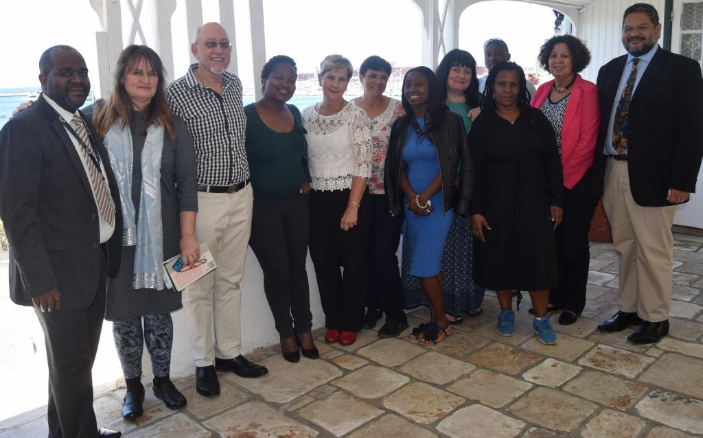 Minister Marais and HOD Walters with DCAS officials who worked behind the scenes of the SS Mendi exhibition