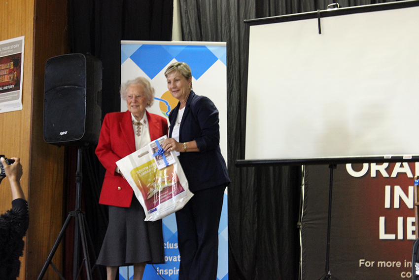 Minister Anroux Marais with one of the storytellers who shared their history at the launch of the Oral History Initiative in Knysna