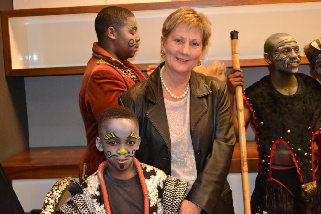Minister Marais with one of the younger cast members