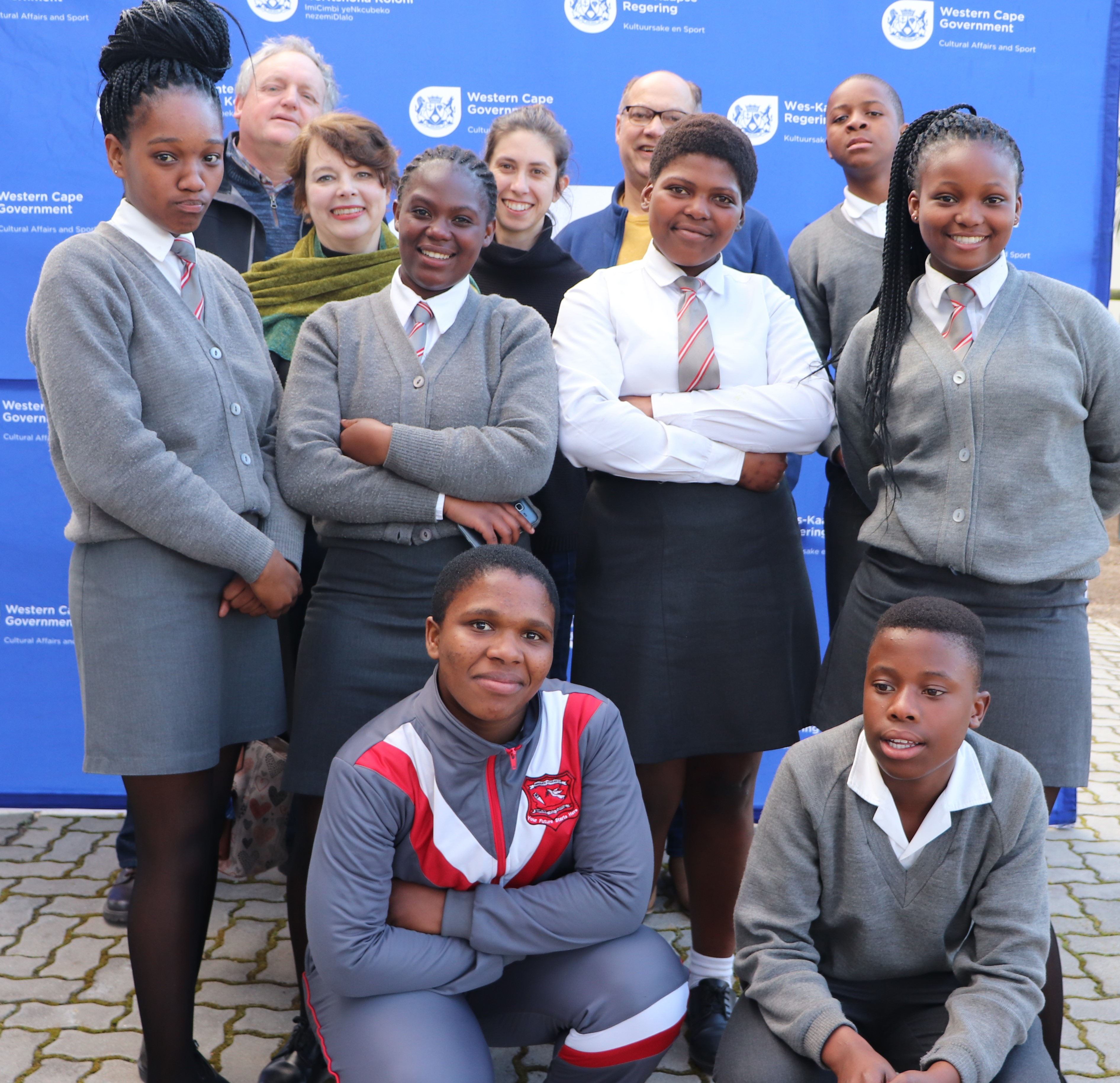 Museum staff with learners from Ikamvalethu Secondary School at the launch of the Indigenous Medicine at the Cape exhibition
