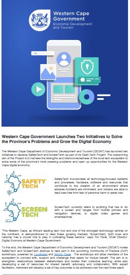 ScreenTech_SafetyTech Nov newsletter