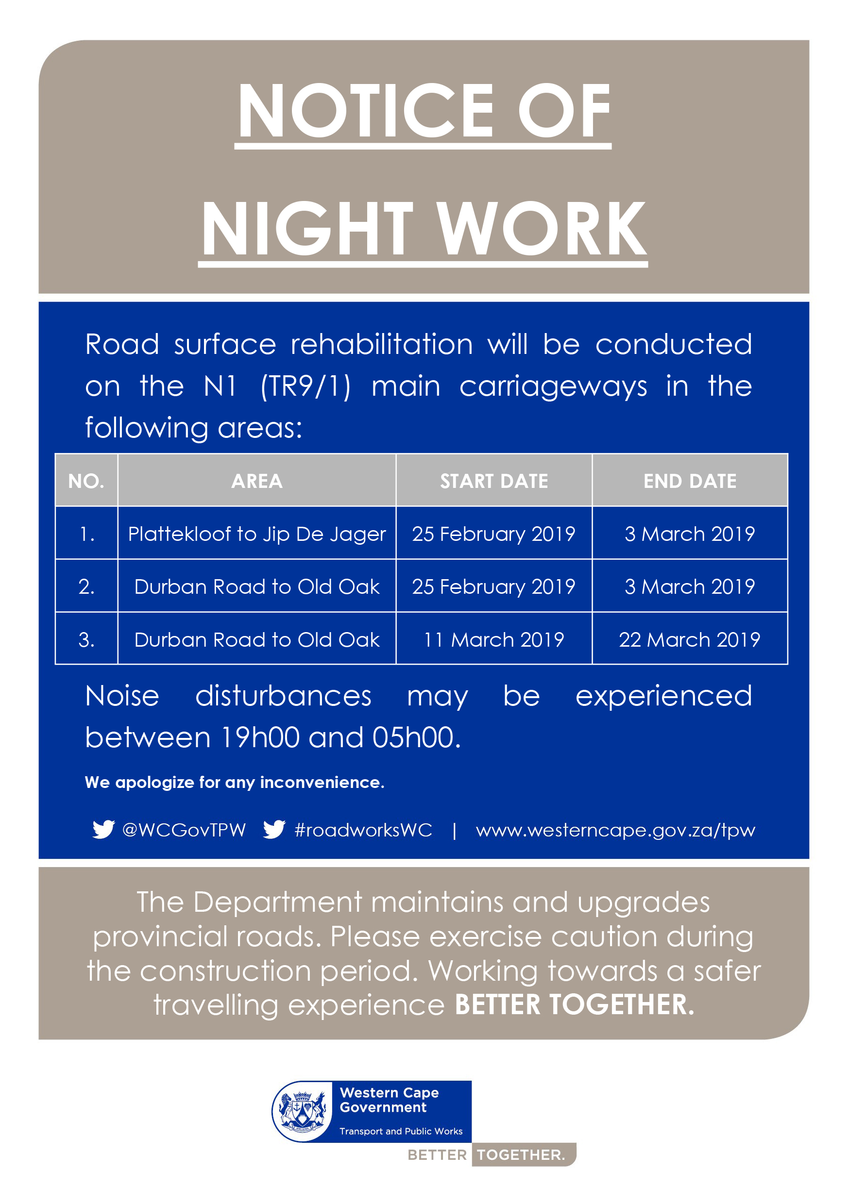 Night work flyer
