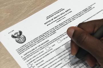 Notice of death/still birth application form