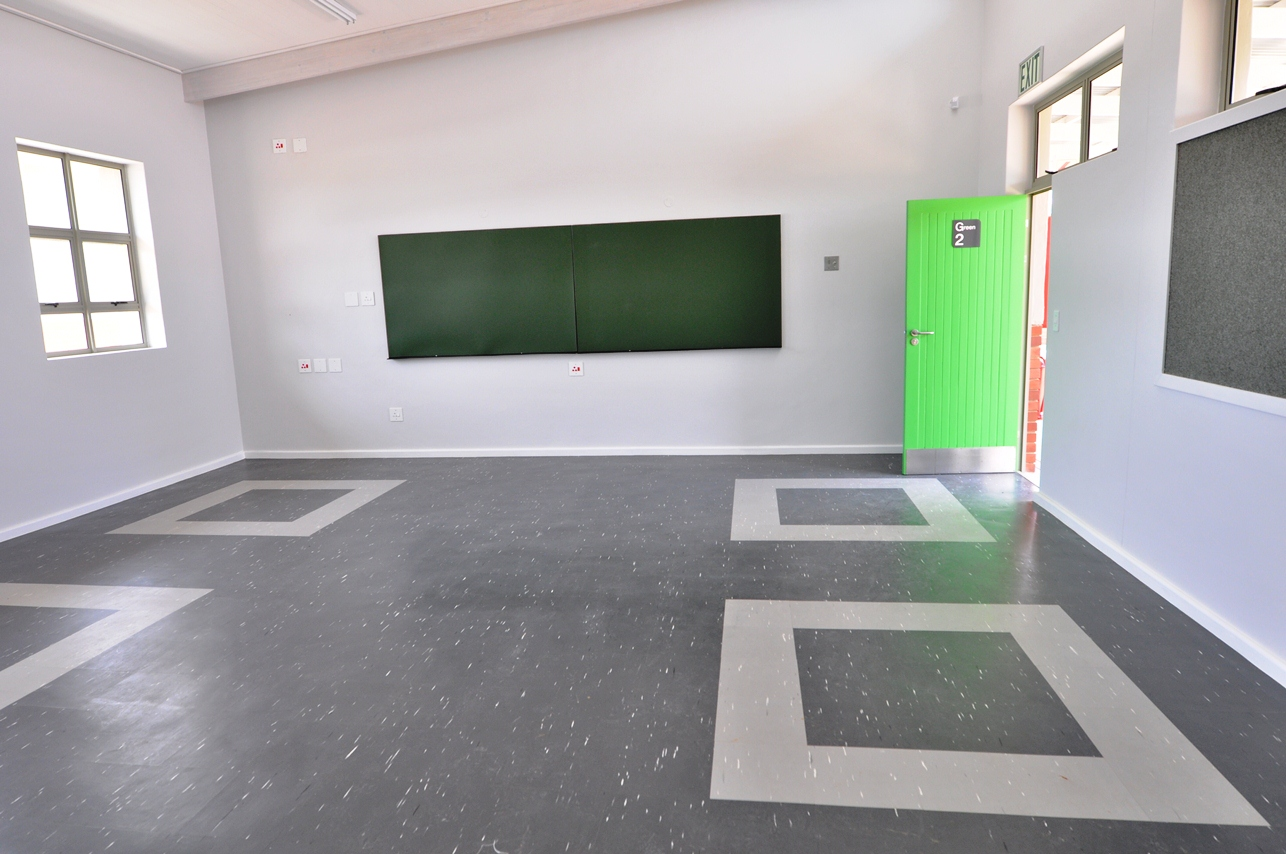 One of the intermediate phase classrooms.