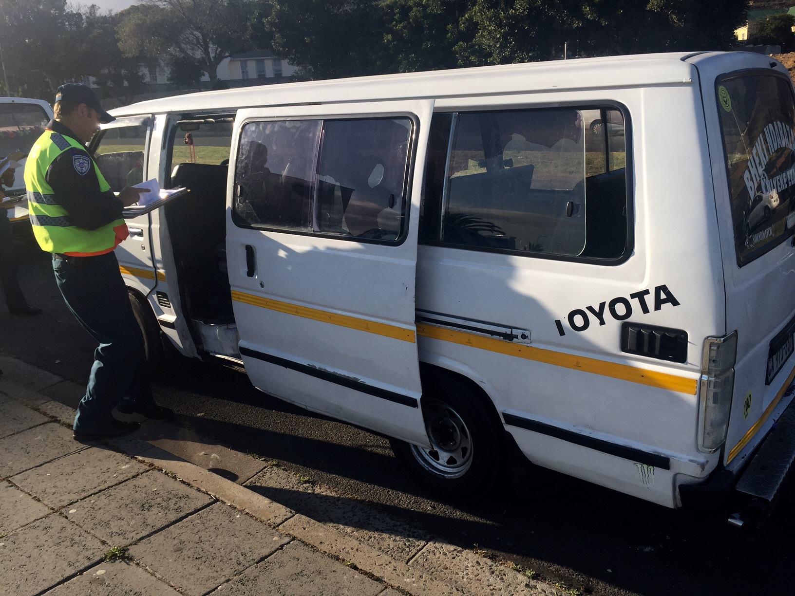 One of the vehicles impounded at the Zonnebloem scholar transport operation.