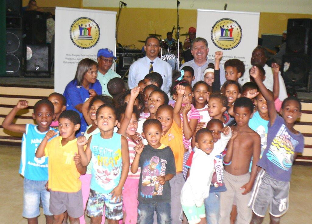 Dr Ivan Meyer celebrates human rights day with community.