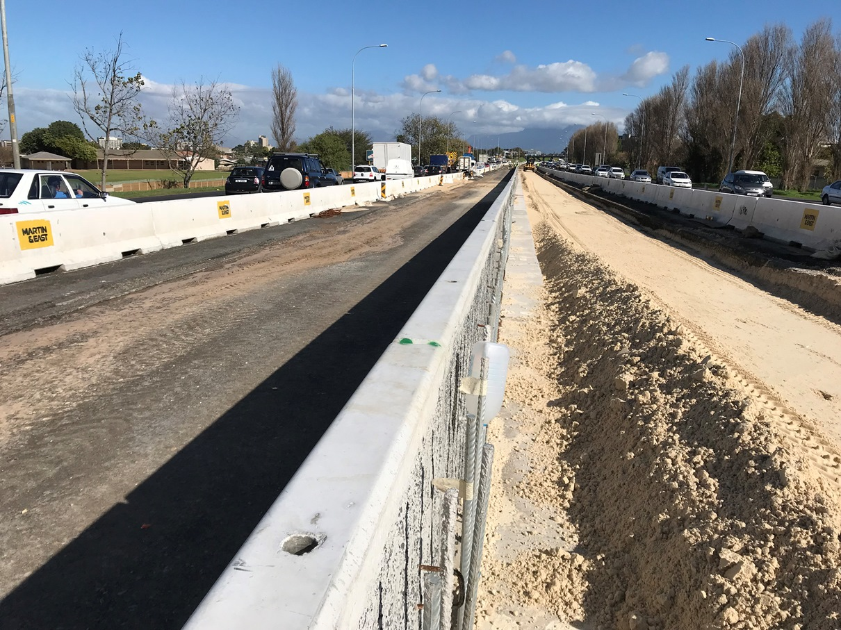 Phase 2 median widening and barrier
