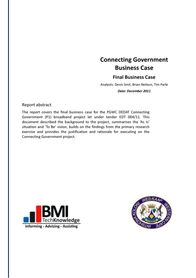 Picture of the Connected Government (Business Case 2011) Document