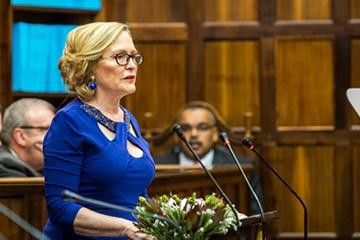 Premier Helen Zille during 2017 SOPA address