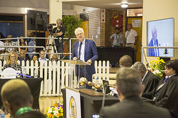 SOPA 2020 Premier Alan Winde at the podium.