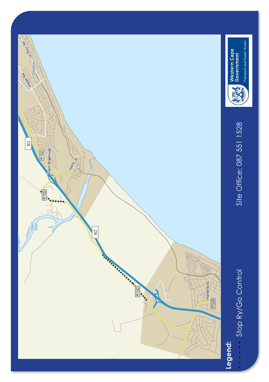 R102 road closure map