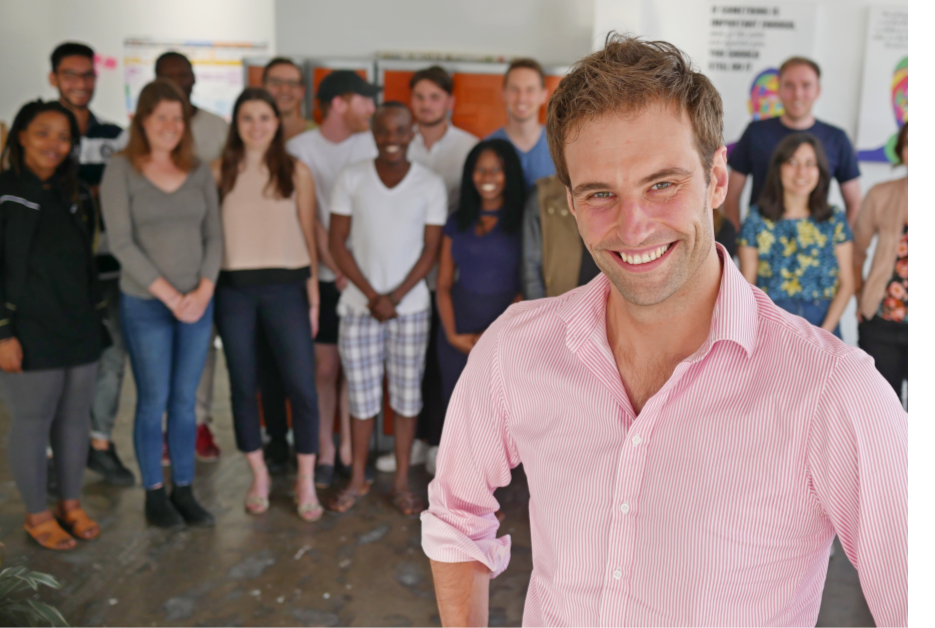 Picture of Injini CEO, Dominic, and the 1st Injini Cohort