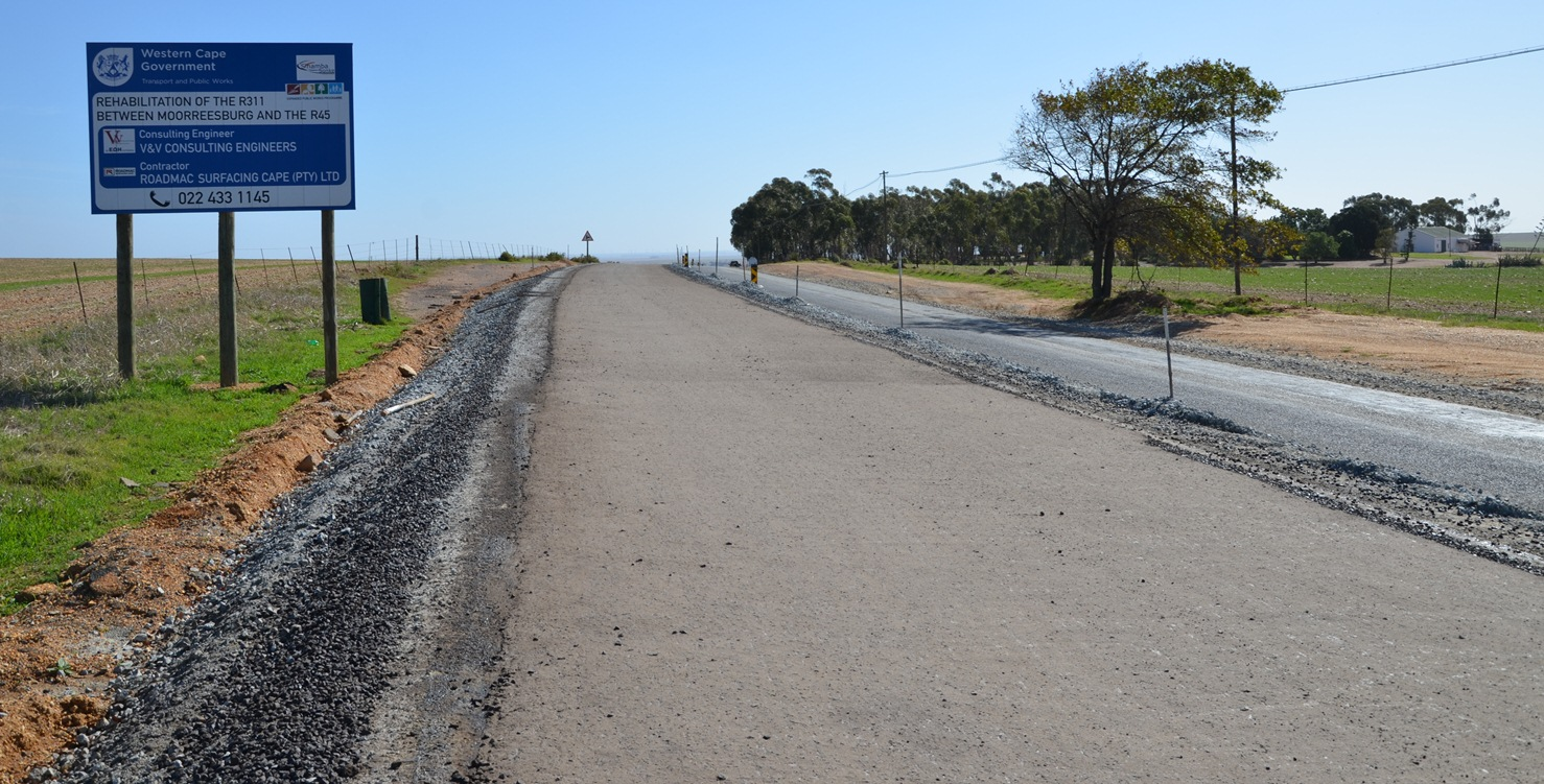 Roadworks between the R311 and R45 are progressing well