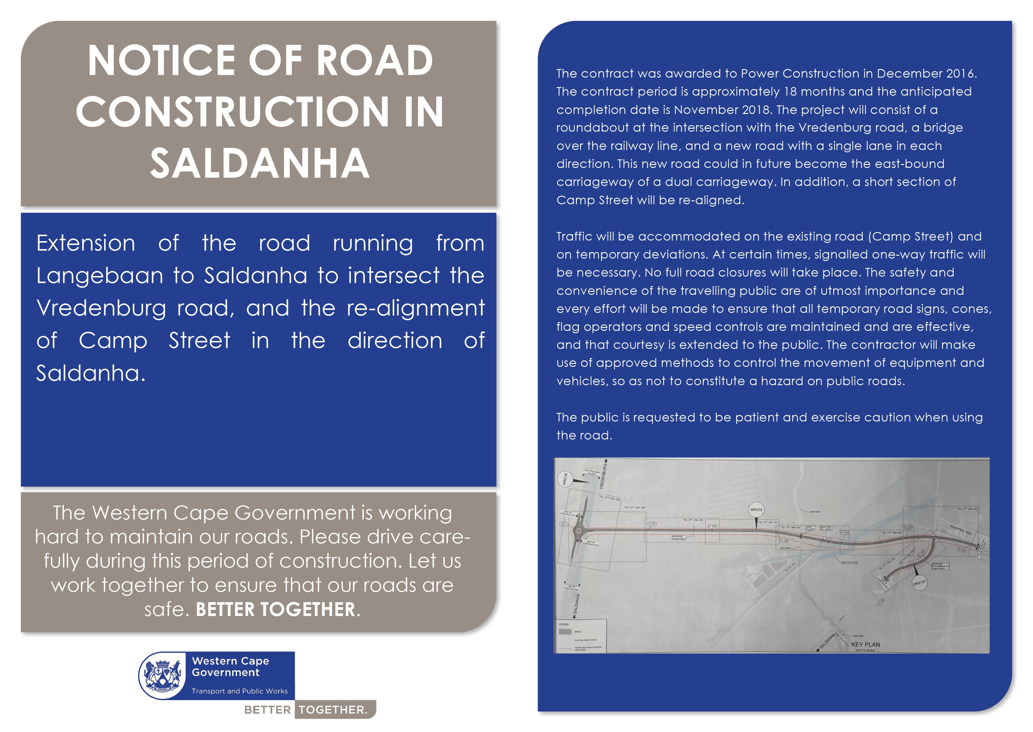 Saldanha Bay roadworks