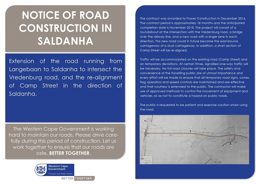 Saldanha Bay roadworks