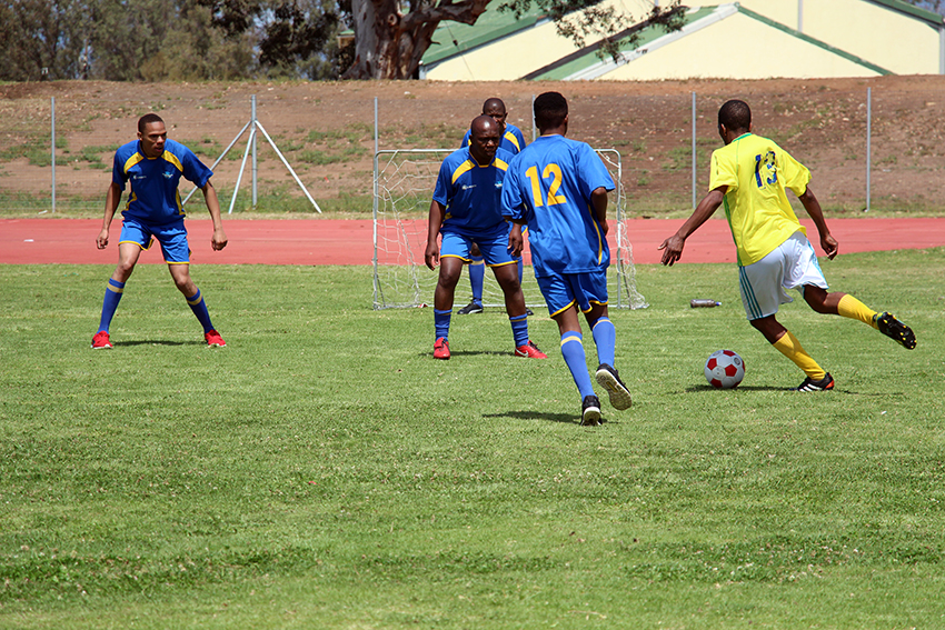 SAPS showed a strong defense during their Cape Winelands BTG soccer match in Paarl