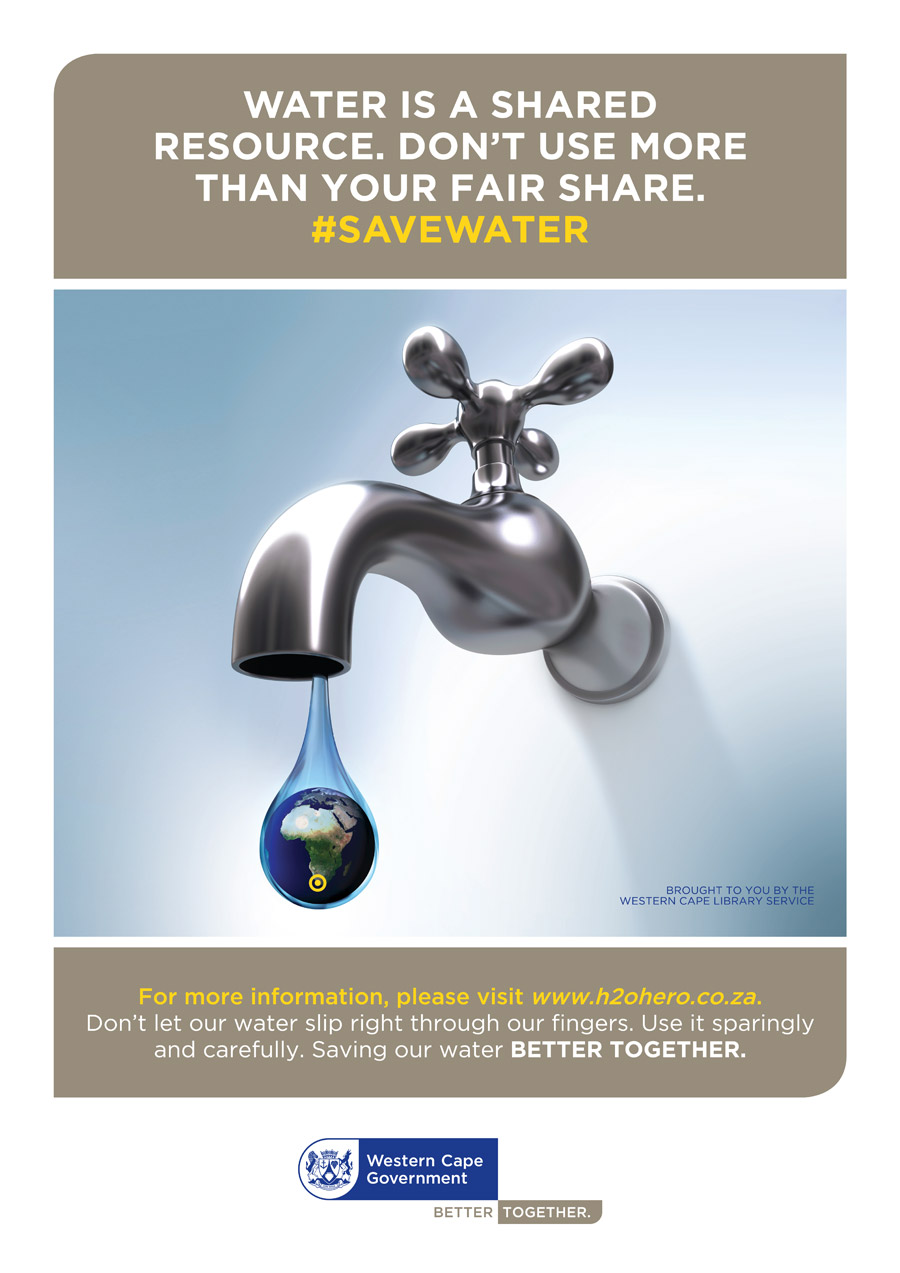 #SaveWater brought to you by the Western Cape Library Service