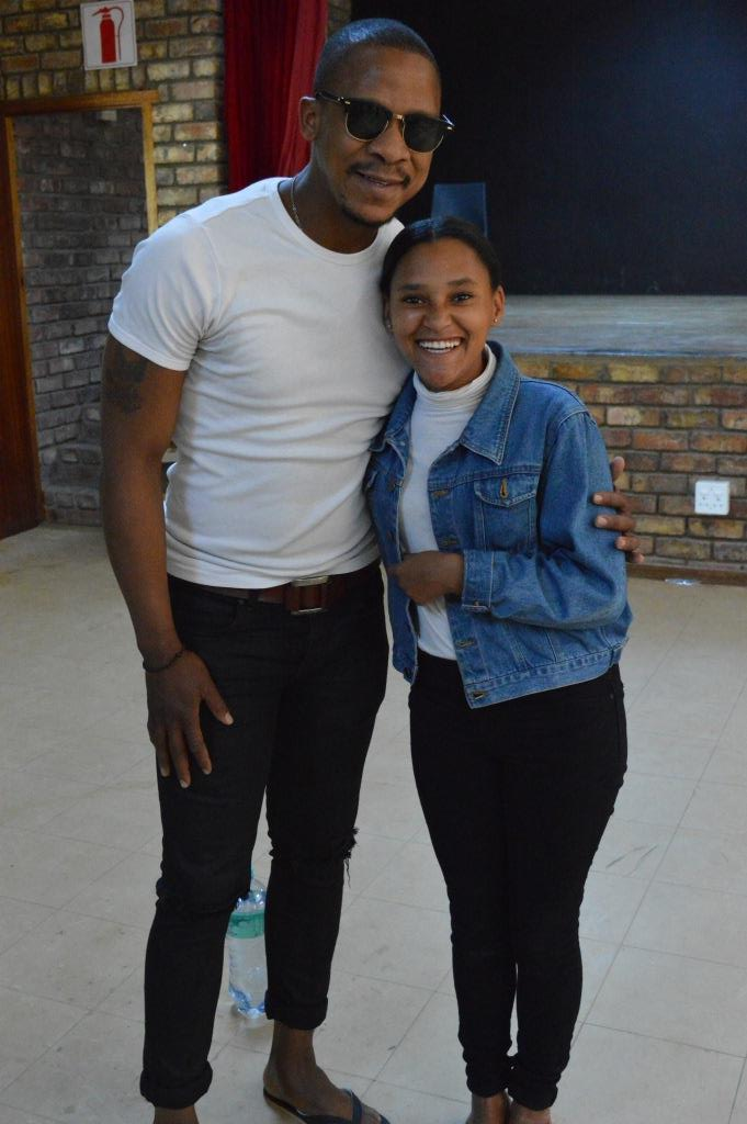 'Scandal' actor Bongile Mantsai with one of his fans