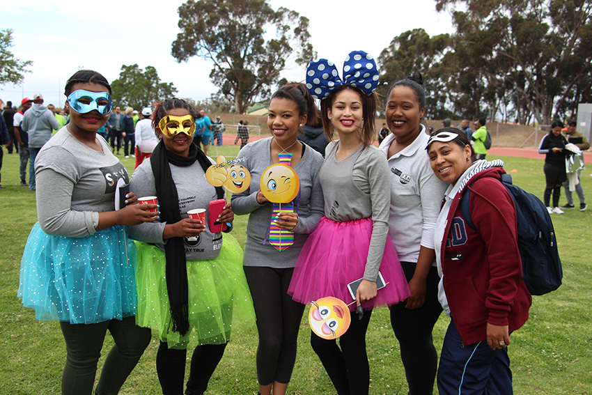 Department of Social Development staff added colour to the Cape Winelands BTG fun-walk in Paarl