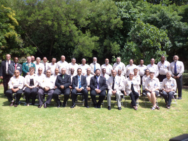2012 Sport Legends with Minister Ivan Meyer(seated centre) and Head of Department of Cultural Affairs and Sport, Mr Brent Walters(seated centre).