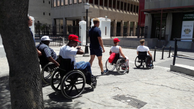 Strolling through the streets op Cape Town
