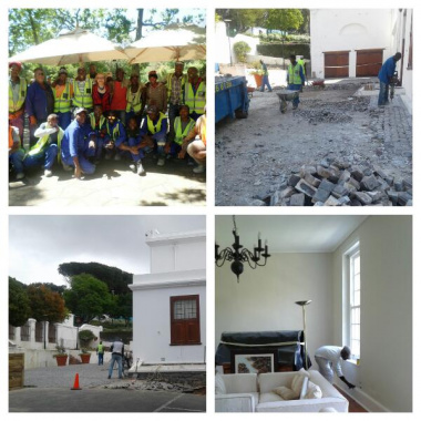 Phase 1 work included general repairs and renovations, landscaping and improving the drainage and retaining structures around and against the buildings.