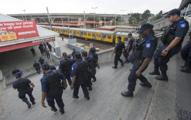 Rail enforcement unit