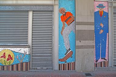 Long Street kiosks and mosaic artwork