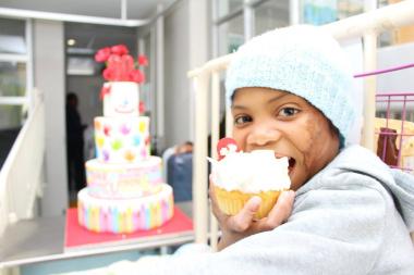 Charlbi Jaftha (9) enjoying the 60th Anniversary Celebrations at Red Cross War Memorial Children's Hospital.
