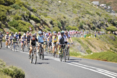 Thousands of cyclists from around the world are expected to take part in the 37th annual Cape Argus Pick n Pay Cycle Tour on Sunday, 9 March 2014.  Photo by Bruce Sutherland