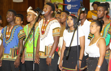 A choir was on entertained delegates at the celebration