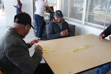 A competitive dominoes game at Cape Winelands BTG