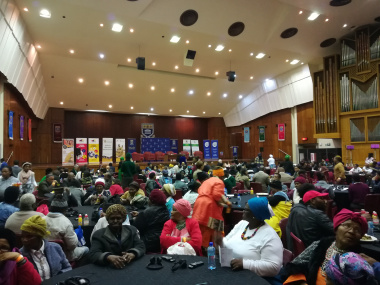 A diverse group participates in the inaugural Indigenous Language Dialogue at UWC