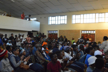 A full house at Zwelethemba Hall enjoys the local talent
