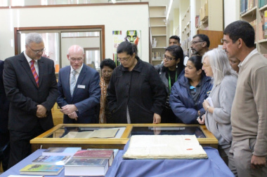 A guided tour of the Archives was conducted by Jaco van der Merwe from the Provincial Archive Service.