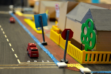 Learners will display traffic models as part of the PET competition.