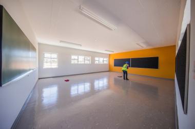 A newly-built classroom.