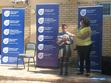 A participant from the storytelling and reading programme