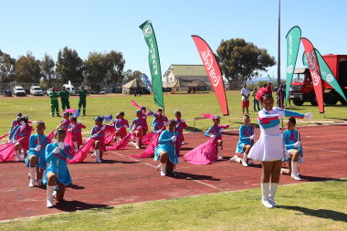 A performance by the Drum Majorettes of Ebenezer Primary School at the opening ceremony.