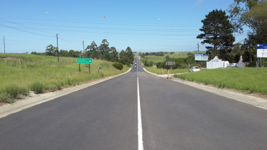 A rehabilitated section of the R102.