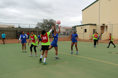 A thrilling game of netball between DCAS and Drakenstein Municipality at the Cape Winelands BTG in Paarl